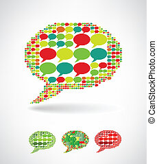 Big speech bubble made from small bubbles