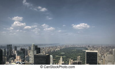 Central Park HDR Aerial - HDR Timelapse of Central park and...
