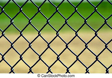 Chainlink fence backstop