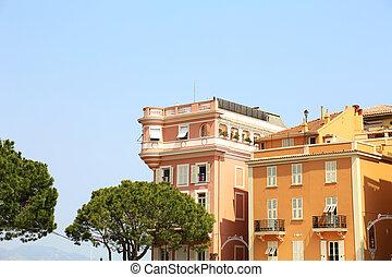 Buildings Place du Palais Monaco - buildings at the Place du...