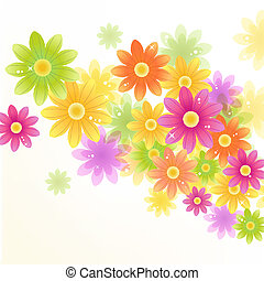 Vector Gerbera flower background - Gerbera flower background...
