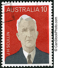 AUSTRALIA - CIRCA 1975: A stamp printed in Australia shows...