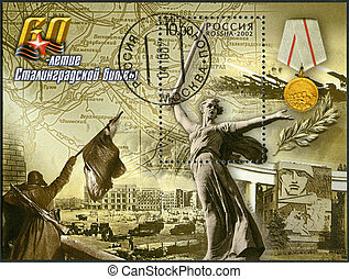 RUSSIA - CIRCA 2002: A stamp printed in Russia shows the...