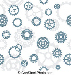 seamless pattern, tiles: gears