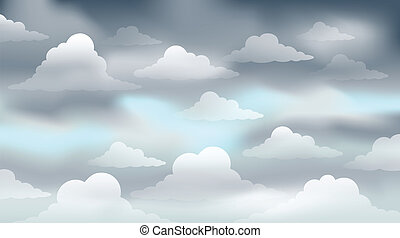 Cloudy sky theme image 3 - eps10 vector illustration