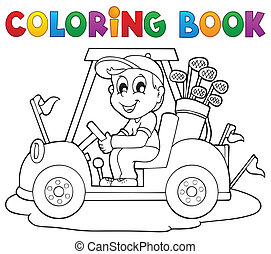 Coloring book outdoor sport theme 2 - eps10 vector...