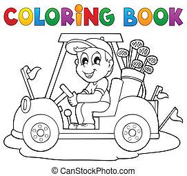 Coloring book outdoor sport theme 2 - eps10 vector...