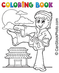 Coloring book sport and gym theme 2 - eps10 vector...