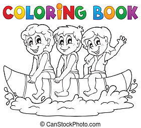 Coloring book water sport theme 3 - eps10 vector...