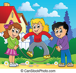 Kids play theme image 2 - eps10 vector illustration