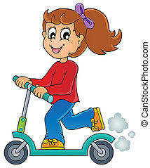 Kids play theme image 4 - eps10 vector illustration.