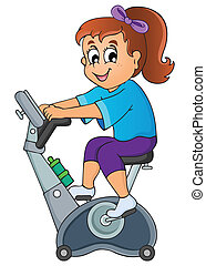 Sport and gym topic image 1 - eps10 vector illustration.