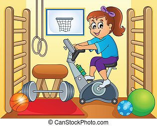 Sport and gym topic image 2 - eps10 vector illustration.