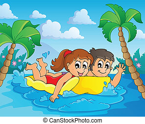 Summer water activity theme 4 - eps10 vector illustration