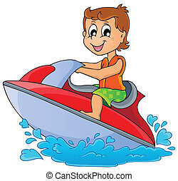 Water sport theme image 3 - eps10 vector illustration.
