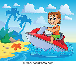 Water sport theme image 4 - eps10 vector illustration.
