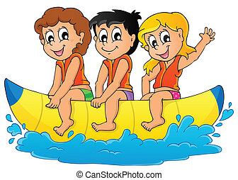 Water sport theme image 5 - eps10 vector illustration.