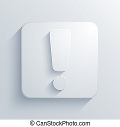 Vector light square icon Eps10
