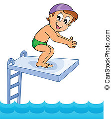 Water sport theme image 8 - eps10 vector illustration.