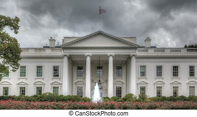 Dark clouds over the White House - HDR Timelapse The White...