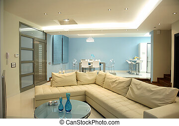 living room - interior of a living room of luxury apartment