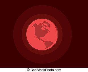 Earth Red Danger