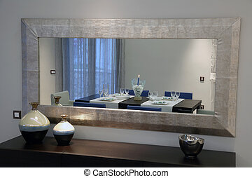 luxury apartment - interior of a luxury apartment with...