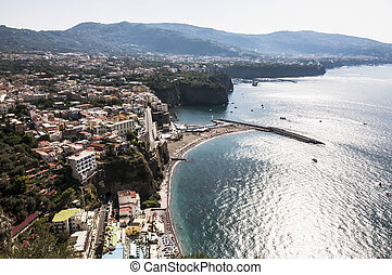 Sorrento peninsula - panoramic view of the sorrento coast,...