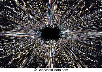 Black hole explosion background - Grunge black hole...