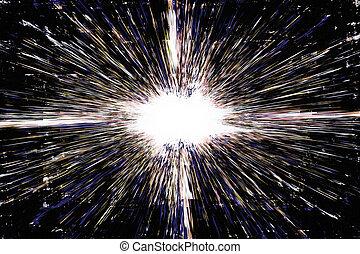 Dark grunge explosion background - White grunge explosion on...