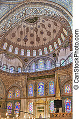 Sultan Ahmed Mosque, Istanbul - Inside view The Sultan Ahmed...