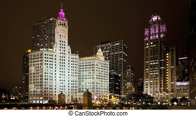 Chicago Michigan Ave - Timelapse Chicago Downtown at...