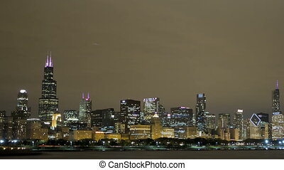 Chicago Skyline - Timelapse of Chicago Skyline View from...