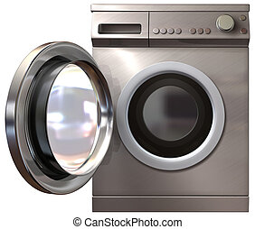 Washing Machine Front Door Open