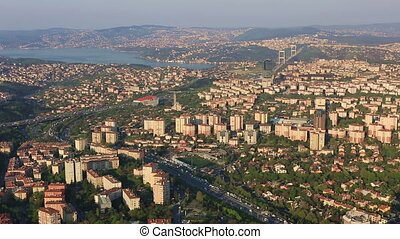time lapse aerial view istanbul - aerial view at Istanbul...