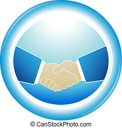 symbol of reliability - partnership - blue symbol of...