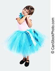 Little Girl in Tutu Skirt
