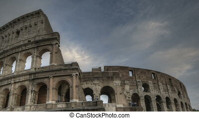 Colosseum at Sunset - Timelapse of the Colosseum in Rome at...