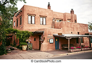 Historical houses of Santa Fe, New Mexico - Historical...