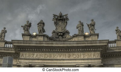 St Peters Square Rome - HDR Timelapse of St Peters Square at...