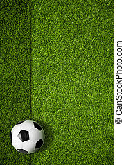 soccer field and ball top view background