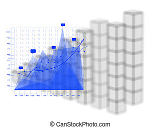 Business graph and chart as concept