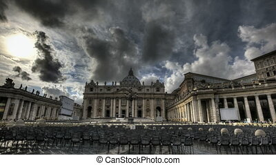 St Peters Basilica Rome - HDR Timelapse of St Peters Square...