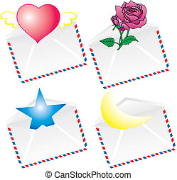 Vector envelopes with gifts