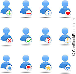 User Icons - Abstract icon of a human with different...