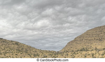 HDR Timelapse Coronado National Forrest Arizona with clouds...