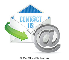 contact us E mail icon illustration design over a white...
