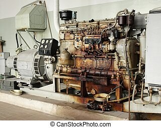 Old diesel generator - elecric energy source