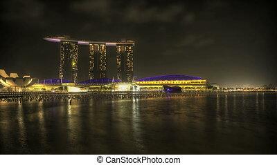 Singapore Marina Bay at night - Timelapse Singapore Marina...