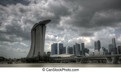 Singapore Marina Bay Entrance - Timelapse Singapore Marina...